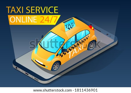isometric taxi app for ordering