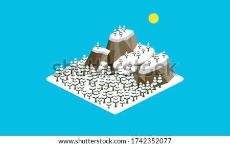 isometric  the mountain  and
