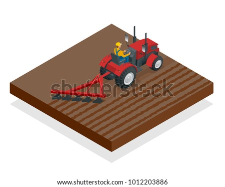 isometric tractor works in a