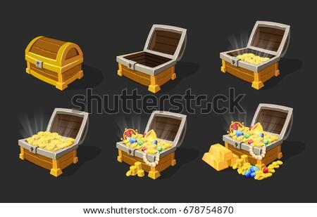 isometric treasure chests