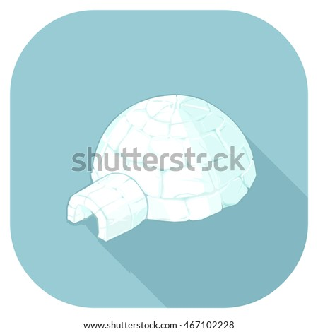 isometric vector igloo home