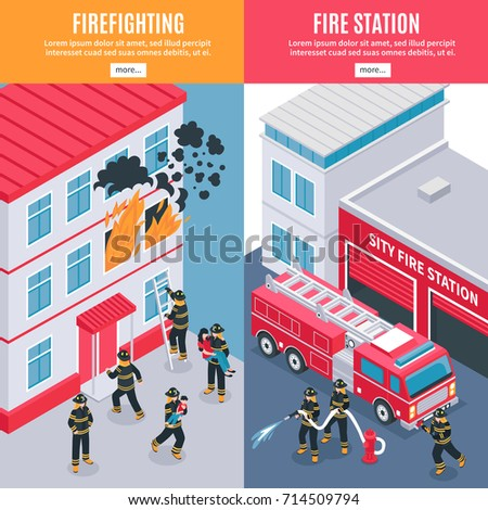 isometric vertical firefighters