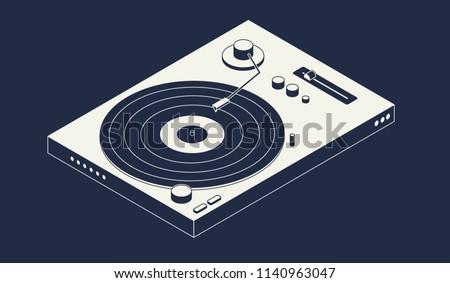 isometric vinyl player