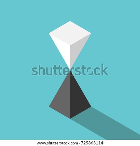 isometric white pyramid