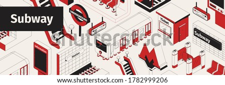 isometric white red and black