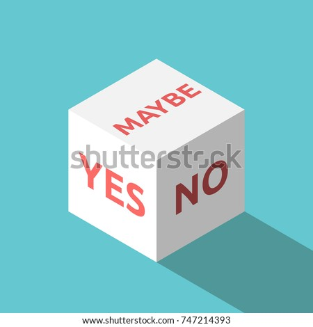 isometric yes  no  maybe white