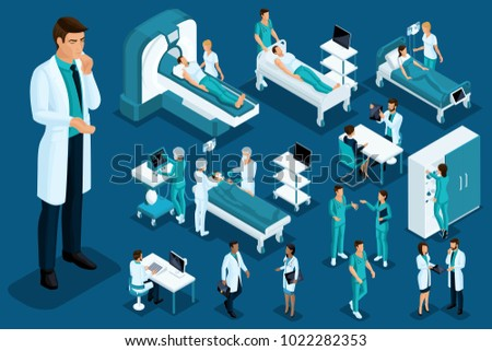 Isometry medicine, Doctor thought, a large surgeon, medical devices, diagnostics, treatment, a large set of Medical equipment