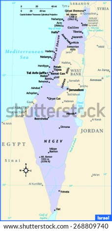 Israel Country Map
