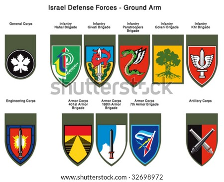 Israel Defense Forces - Insignia Units Tags