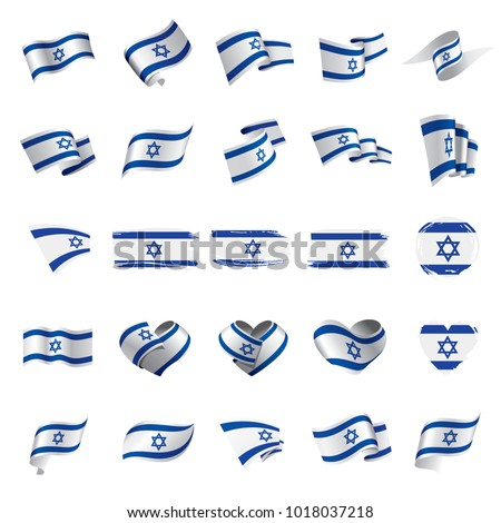 Israel flag, vector illustration