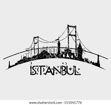 istanbul city retro style