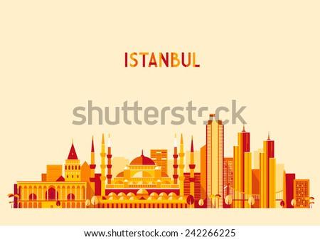 istanbul city  turkey  skyline