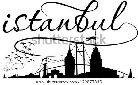 istanbul city vector art