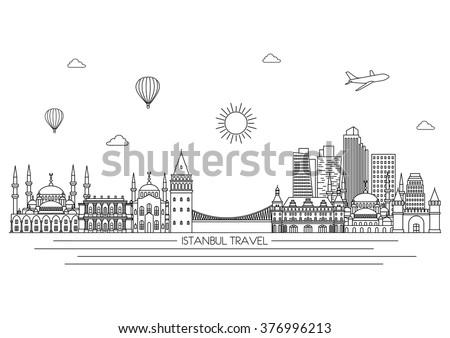 istanbul detailed skyline