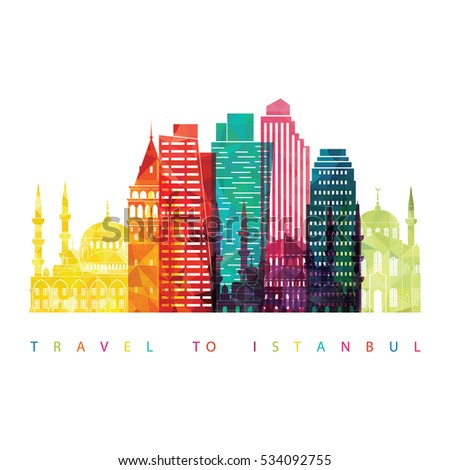 istanbul skyline detailed