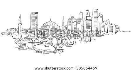 istanbul skyline panorama