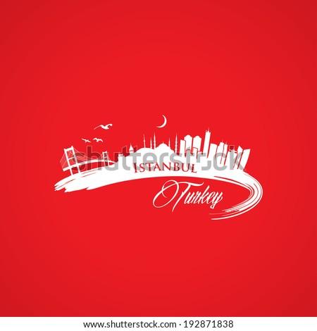 Istanbul skyline vector illustration