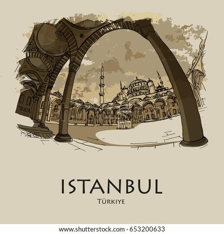 istanbul  turkey  blue mosque