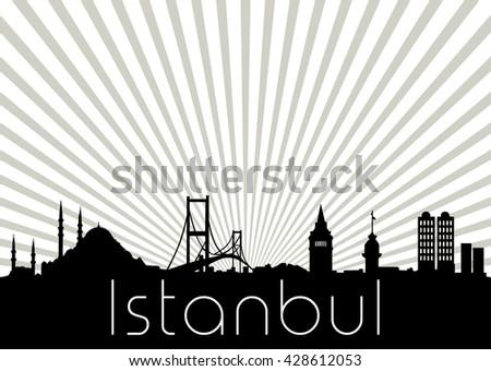 istanbul turkey skyline