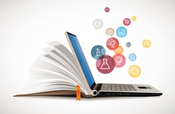 IT Communication - e-learning - internet network as knowledge base