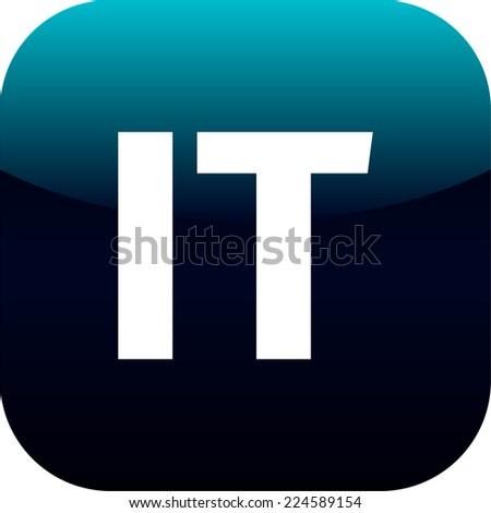 IT domain icon, Italy, information technology, blue, international