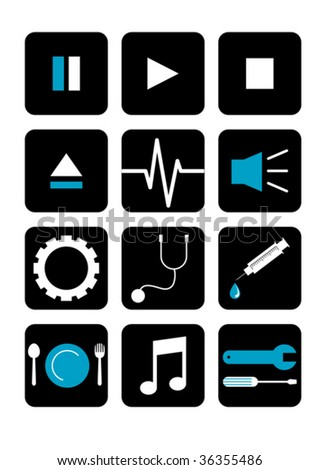 it icons - stock vector