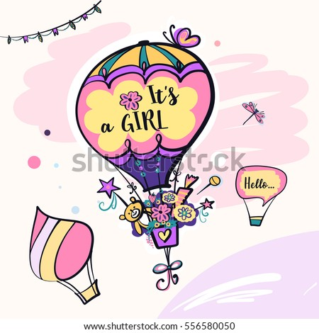 it is a girl balloon with