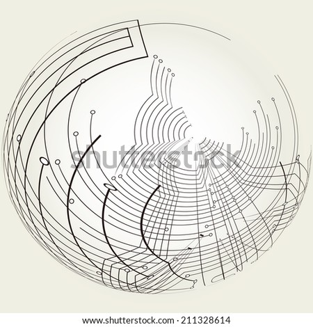 It is an abstract illustration of the technology.