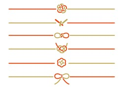 It is an illustration material set of the decoration string used at the time of the celebration and the non-celebration in Japan. Vector image.