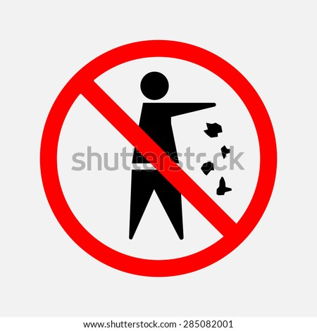 it is forbidden to throw