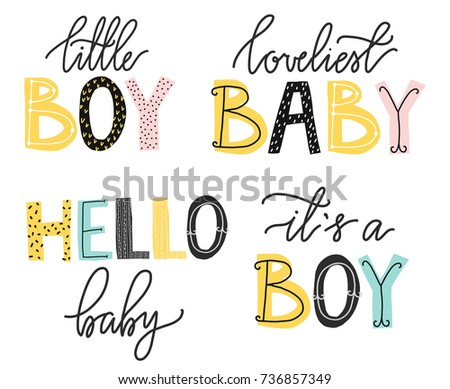 It's a boy lettering. Cute alphabet. Funny letters