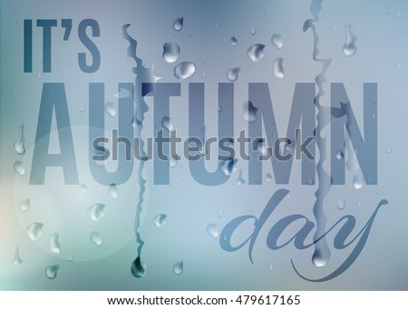 it's autumn day vector blur