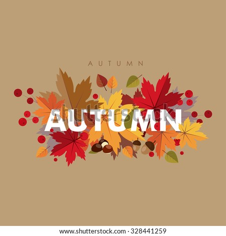 it's autumn time typographical