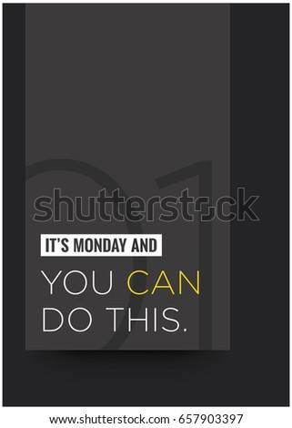 it's monday and you can do this