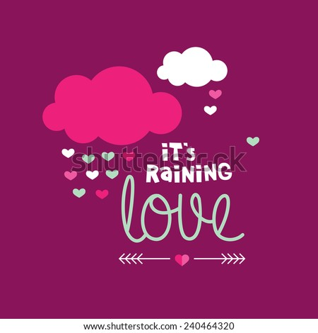 it's raining love sweet