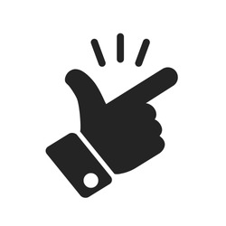 It's simple - finger snap icon in flat style. Easy icon. Finger snapping click flick hand gesture sign - stock vector