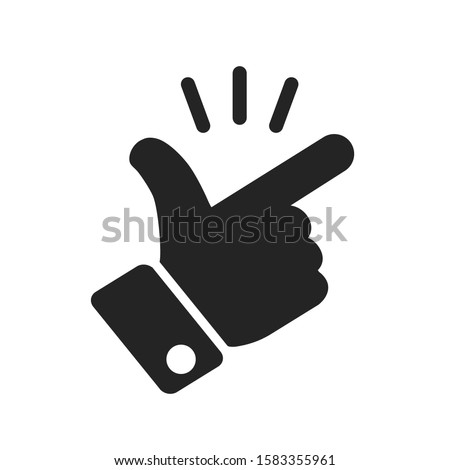 It's simple - finger snap icon in flat style. Easy icon. Finger snapping click flick hand gesture sign - stock vector Foto stock ©