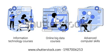 IT specialist training abstract concept vector illustrations. Photo stock ©