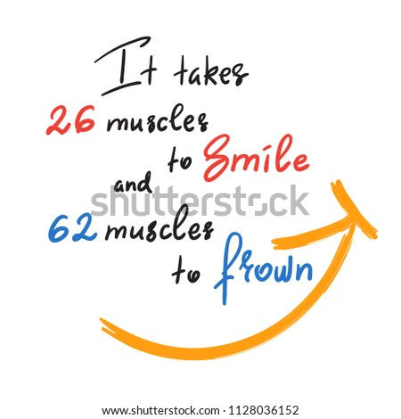 it takes 26 muscles to smile