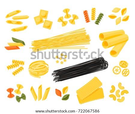italian cuisine set of