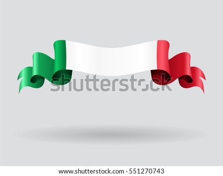 Italian flag wavy abstract background. Vector illustration.