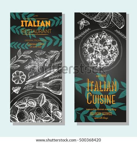 italian food vintage design