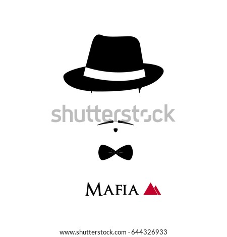 italian mafioso face on white