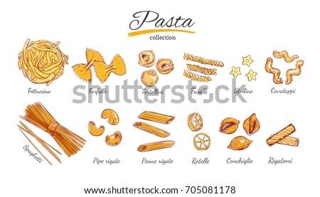 italian pasta set different
