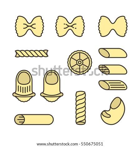 italian pasta types macaroni