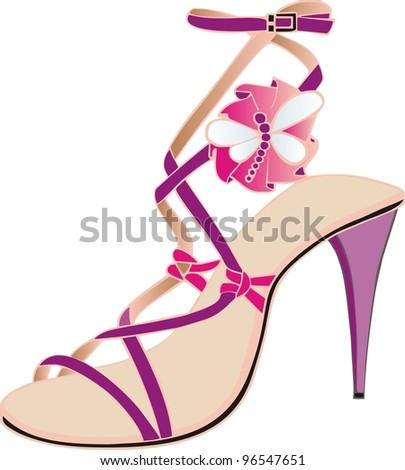 italian pink sandal