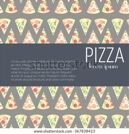 italian pizza vector