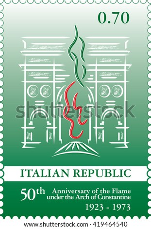 italian stamp the arch of
