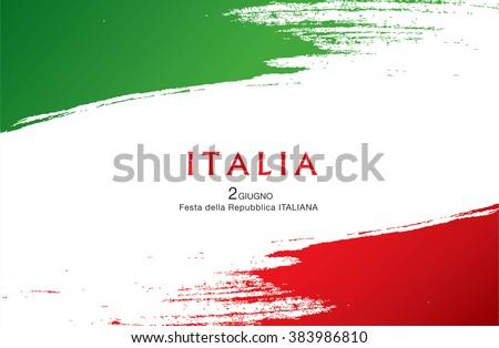 Italian translation of the inscription: Italy. Second of June. Italian Republic Holiday