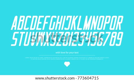 italic style alphabet letters and numbers. vector, italics font type design. slant lettering symbols. stylish, inclined typesetting. bold, oblique typeface